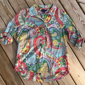 Tommy Hilfiger Funky Paisley Print Popover Tunic
